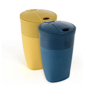 Light My Fire Pack-Up-Cup BIO Pack de 2, mustyyellow/hazyblue